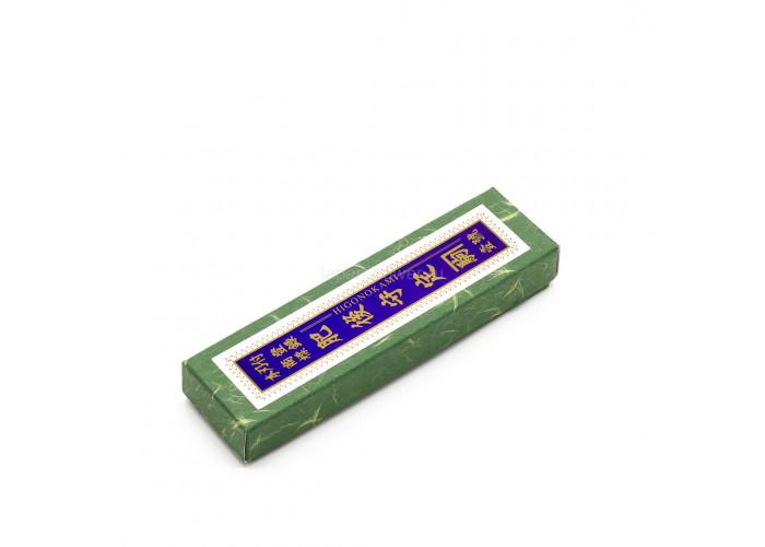 Нож складной Nagao Higonokami, Bamboo leaf, Shirogami (White Steel), Brass, 80mm