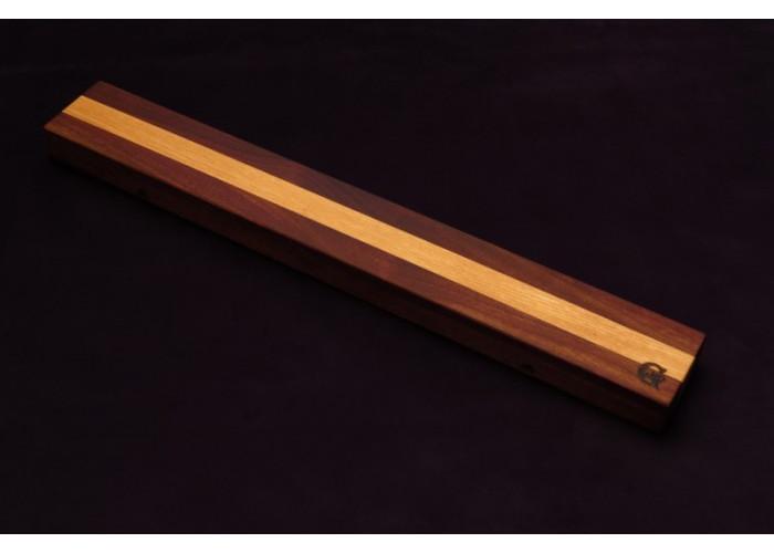 Магнитный держатель для ножей MDG (орех и ясень в центре) 700г.