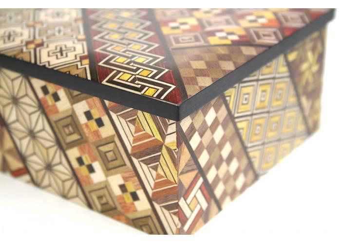 Японская шкатулка Yosegi 220x140X60мм
