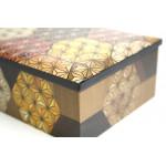 Японская узорная шкатулка Yosegi 220x140X60мм