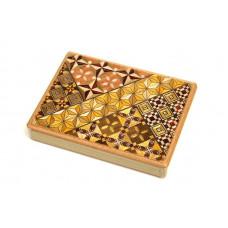 Японская коробка с секретом (Karakuri Magic Box) Yosegi 127x90X12мм, 4 шага до открытия