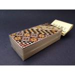 Японская коробка для монет с секретом (Karakuri Coin Box) Yosegi 90x45X26мм
