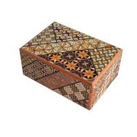 Японская коробка с секретом (Japan Puzzle Box) Yosegi 120x85X50мм, 4 шага до открытия
