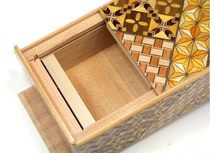 Японская коробка с секретом (Japan Puzzle Box) Yosegi 120x85X50мм, 21 шаг до открытия