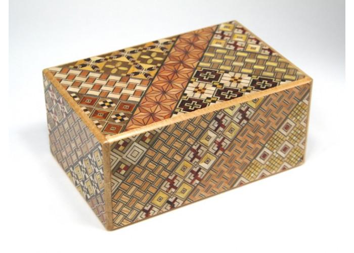 Японская коробка с секретом (Japan Puzzle Box) Yosegi 150x95X64мм, 21 шаг до открытия