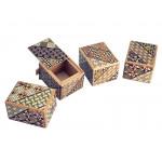Японская коробка с секретом (Japan Puzzle Box) Yosegi 60x47X38мм, 5 шагов до открытия