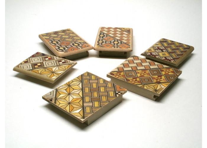 Японская коробка с секретом (Japan Puzzle Box) Yosegi 60x50X40мм, 5 шагов (полностью разборная)