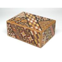 Японская коробка с секретом (Japan Puzzle Box) Yosegi 120x85X50мм, 7 шагов до открытия