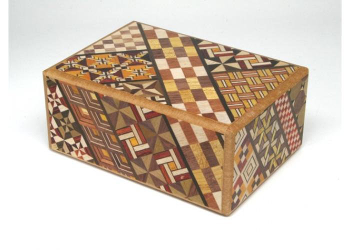 Японская коробка с секретом (Japan Puzzle Box) Yosegi 120x85X50мм, 10 шагов до открытия