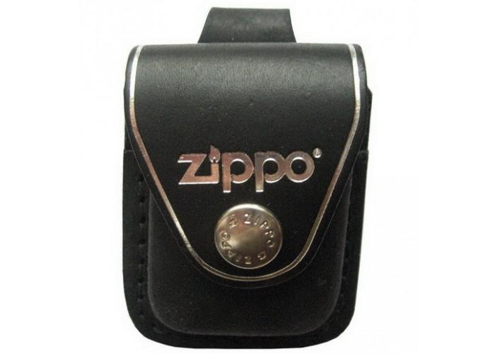 Кожаный чехол Zippo с петлёй, модель LPLBK