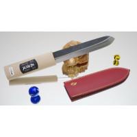 Makiri черный 150mm (кожаные ножны)