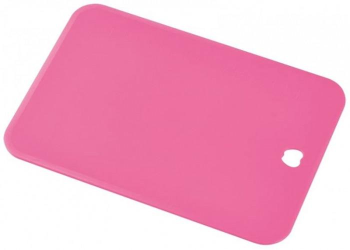 Пластиковая разделочная доска, Shimomura, 220х153х2мм (розовая, малая)