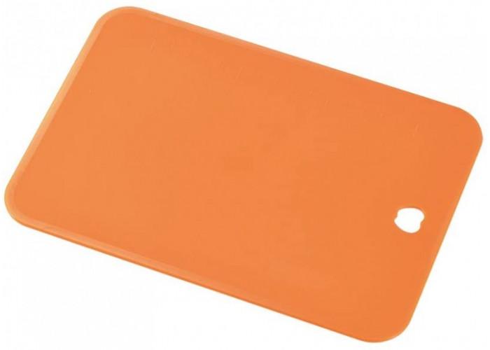 Пластиковая разделочная доска, Shimomura, 220х153х2мм (оранжевая, малая)