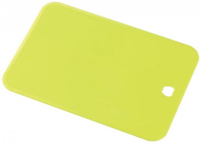 Пластиковая разделочная доска, Shimomura, 300х200х2мм (зеленая, большая)