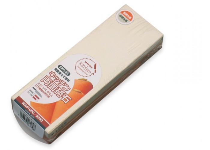 Водный камень Suehiro, серии Whetstones for Kitchen Knives, 280/1000 грит, SKG-25, 183 x 63 x 12мм / 183 x 63 x 15мм