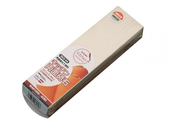 Водный камень Suehiro, серии Whetstones for Kitchen Knives, 280/1000 грит, SKG-44, 178 x 50 x 12мм / 178 x 50 x 15мм