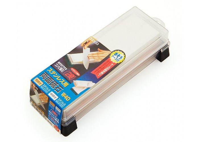 Водный камень Suehiro, серии Whetstones for Kitchen Knives, 240/1000 грит, W-40, 180 x 50 x 18мм / 180 x 50 x 18мм