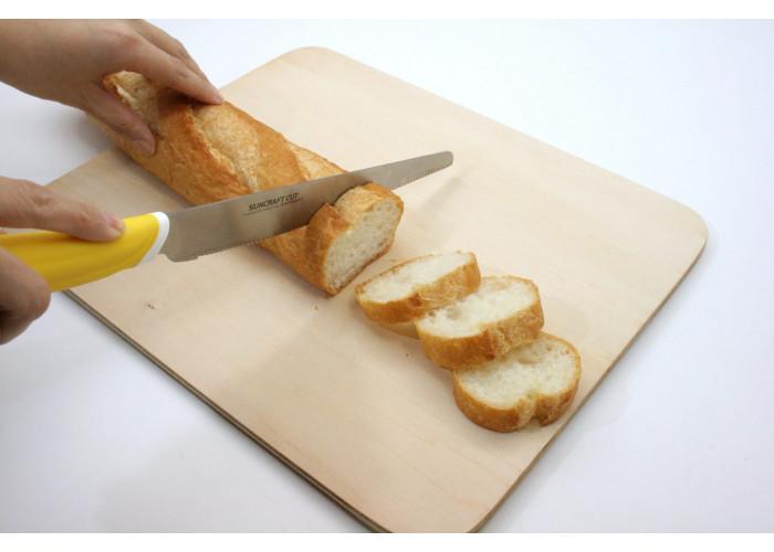 Кухонный нож Suncraft Slicer (Serrated) 240mm (желтый)