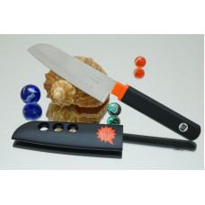 Кухонный нож Tojiro FK Santoku 105mm (черная рукоятка)
