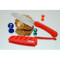 Кухонный нож Tojiro FK Santoku 95mm (красная рукоятка)