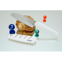Кухонный нож Tojiro FK Santoku 95mm (белая рукоятка)