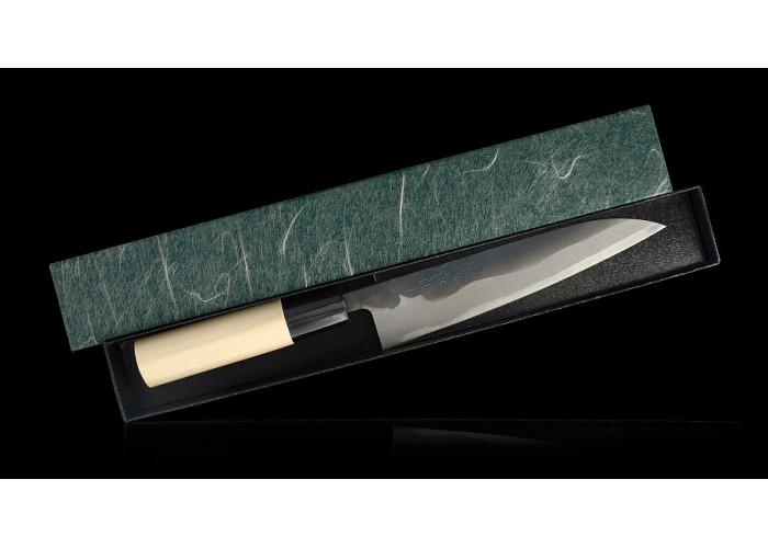 Кухонный нож Tojiro Petty 150mm, Shirogami, Kurouchi