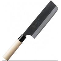 Gihei-hamono Aogami#2 в высокоуглеродистых обкладках, больстер из пластика, Nakiri 165mm