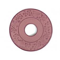 Чугунная подставка IWACHU под чайник 10см. (круг, коричневый)