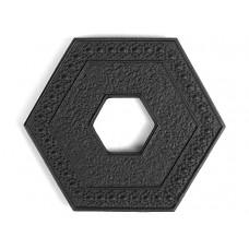 Чугунная подставка IWACHU под чайник 13,5х15см. (шестиугольник, черный)