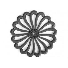 Чугунная подставка IWACHU под горячее 21см. (цветок, черный)