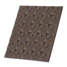Чугунная подставка IWACHU под горячее 16х14см. (прямоугольник, темно-коричневый)