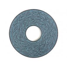 Чугунная подставка IWACHU под чайник 14,5см. (круг, сосновая игла, синий)