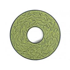 Чугунная подставка IWACHU под чайник 14,5см. (круг, сосновая игла, зеленый)