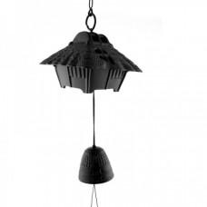 Фурин IWACHU Восточный магазин и колокольчик (черный)