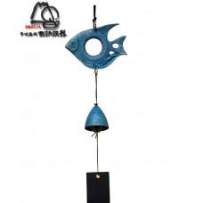 Фурин IWACHU Рыбка и колокольчик (голубой)