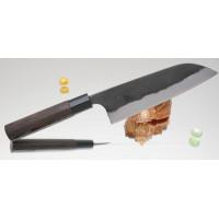 Кухонный нож Kajibee Aogami Damaskus Kurouchi Santoku 165mm