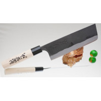 Кухонный нож Kajibee Shirogami Kurouchi Nakiri  165mm
