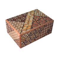 Японская коробка с секретом (Japan Puzzle Box) Yosegi 120x85X50мм, 14 шагов